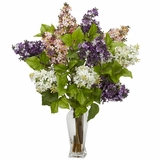 Lilac Silk Flower Arrangement - Nearly Natural - 1256
