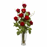 Rosebud Silk Flower Arrangement - Nearly Natural - 1213