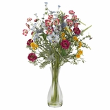 Veranda Garden Silk Flower Arrangement - Nearly Natural - 4696
