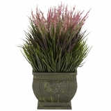Mixed Grass Silk Plant (Indoor/Outdoor) - Nearly Natural - 4124