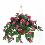 Bougainvillea Hanging Basket Silk Plant in Beauty - Nearly Natural - 6608