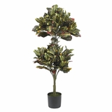 4.5' Croton Topiary Silk Tree - Nearly Natural - 5290