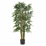 4' Biggy Bamboo Silk Tree in Green - Nearly Natural - 5282