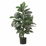 3' Zebra Silk Plant in Green - Nearly Natural - 6542