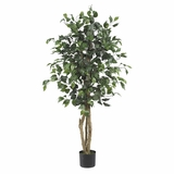 4' Ficus Silk Tree in Green - Nearly Natural - 5299