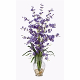 Dancing Lady Liquid Illusion Silk Flower Arrangement in Purple - Nearly Natural - 1073-PP