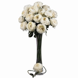 31 Large Rose Stem (Set of 12) - Nearly Natural - 2127-WH
