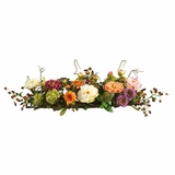 Mixed Peony Centerpiece Silk Flower Arrangement in Mixed - Nearly Natural - 4665