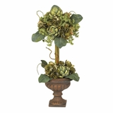 Artichoke Topiary Silk Flower Arrangement in Green - Nearly Natural - 4633