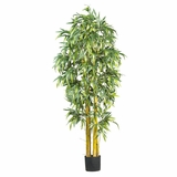 6' Big Bamboo Silk Tree in Green - Nearly Natural - 5190