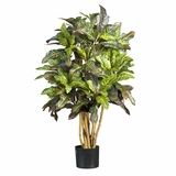 3' Croton Silk Tree in Green - Nearly Natural - 5182