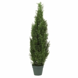 4' Cedar Tree Silk Tree in Green - Nearly Natural - 5172