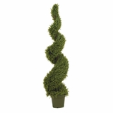 5' Rosemary Spiral Silk Tree in Green - Nearly Natural - 5171
