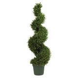 4' Rosemary Spiral Silk Tree in Green - Nearly Natural - 5170