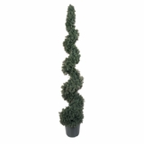 5' Cedar Spiral Silk Tree in Green - Nearly Natural - 5166