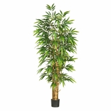 6' Belly Bamboo Silk Tree in Green - Nearly Natural - 5257