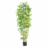 7' Bambusa Bamboo Silk Tree in Green - Nearly Natural - 5215
