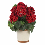 Geranium Silk Plant in Red - Nearly Natural - 4691