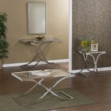 Vogue Chrome Occasional Table Set - Southern Enterprises