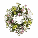 20 Dogwood Wreath in Asst - Nearly Natural - 4688