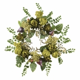 20 Artichoke Floral Wreath in Multi - Nearly Natural - 4684