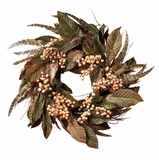 24 Feather and Berry Wreath - Nearly Natural - 4681