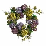 24 Hydrangea Wreath in Mixed - Nearly Natural - 4666