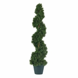 3' Cedar Spiral Silk Tree in Green - Nearly Natural - 5161