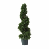 2' Cedar Spiral Silk Tree in Green - Nearly Natural - 5160