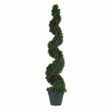 4' Cedar Spiral Silk Tree in Green - Nearly Natural - 5076