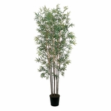 6' Mini Bamboo Silk Tree in Green - Nearly Natural - 5022