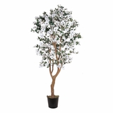 5' Dogwood Silk Tree in White - Nearly Natural - 5019