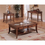 Occasional Table Set in Medium Oak - Coaster