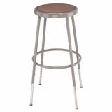 Lab Stool - 25-33 Adjustable Stool with Hardboard Seat - National Public Seating - 6224H