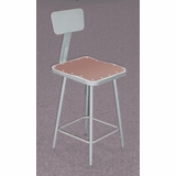 Lab Stool - 25-33 Adjustable Stool with Backrest - National Public Seating - 6324HB