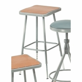 Lab Stool - 25-33 Adjustable Stool with Hardboard Seat - National Public Seating - 6324H