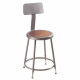Lab Stool - 19-27 Adjustable Stool with Backrest - National Public Seating - 6218HB