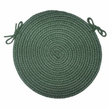 Braided Hook Collection 15 Chair Pad Evergreen - Rhody Rug - SYIB-20215CPEV