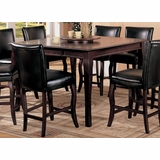 54 Inch Counter Height Dining Table in Dark Cherry - Coaster