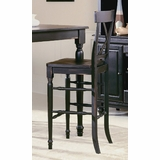 Pub Chair in Black-Sand Through (Set of 2) - 715-29