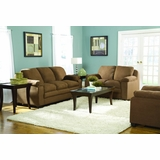 Sofa Set in Brown Microfiber - 9840BR-SET