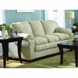 Sofa in Buff Microfiber - 9840BF-3