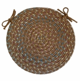 Blossom Gold 15 Braided Chair Pad - Rhody Rug - BL-8715CPGO