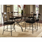 Cameron 7-Piece Counter Height Rectangle Wood Dining Set with Ladder Back Stools - Hillsdale Furniture - 4671CTBRS57