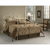Twin Size Bed - Victoria Twin Size Bed in Antique White - Hillsdale