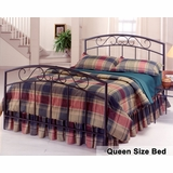 Queen Size Bed - Wendell Metal Bed in Black