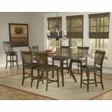 Arbor Hill 7-Piece Counter Height Dining Set in Colonial Chestnut - Hillsdale Furniture - 4232GTBS7