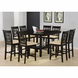 Tabacon 9-Piece Counter Height Dining Room Furniture Set - Hillsdale Furniture - 4155DTBGS9