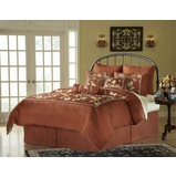 Cal King Size Comforter Set - 14 Piece Set in Cinnabar Pattern - 82EQ714CBR