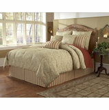 Cal King Size Comforter Set - 14 Piece Set in Sylvia Pattern - 82EQ714SYL